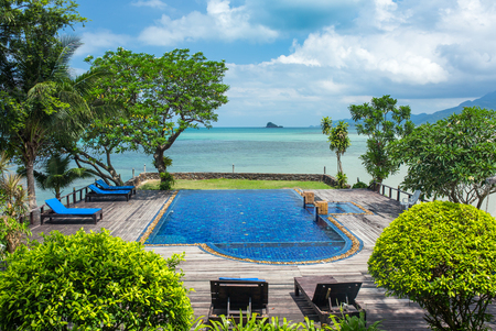 Beautiful swimming pool on Koh Chang island in Thailand