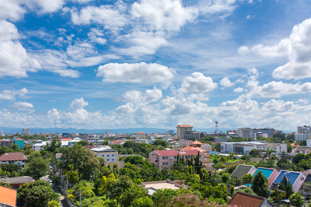 Chiang Mai cityscape in beautiful sunny day, Northern Thailand