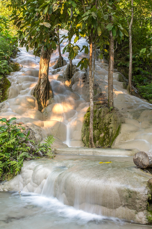 namtok: Namtok Bua Tong (Sticky waterfall) in Northern Thailand