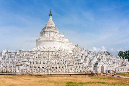 The white pagoda of Hsinbyume (Mya Thein Dan pagoda ) Paya temple in Mingun near Mandalay, Myanmar
