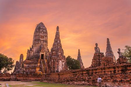 Wat Chaiwatthanaram Temple in Ayutthaya Historical Park, Thailand