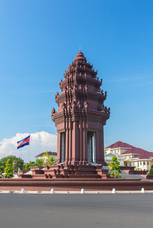 Independence Monument (Vimean Ekareach) in Phnom Penh, Cambodia Editorial
