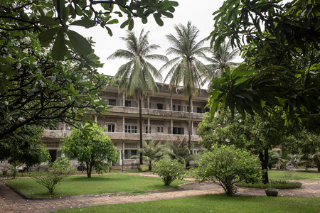 Tuol Sleng Genocide Museum in Phnom Penh, Cambodia