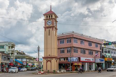 Pyin Oo Lwin, Myanmar - October 3, 2016: Purcell Tower in the town Pyin Oo Lwin in Burma.