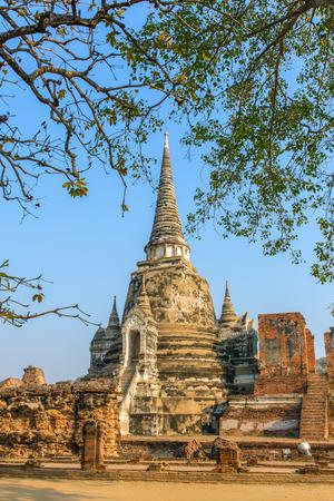 Wat Phra Si Sanphet Temple in Ayutthaya Historical Park, Thailand