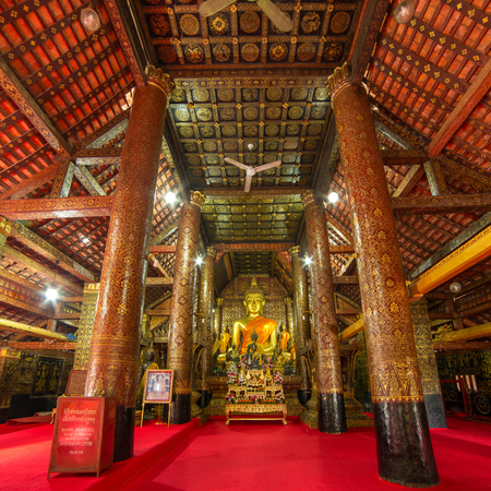 Inside of  Wat Xieng Thong temple, Luang Prabang, Laos