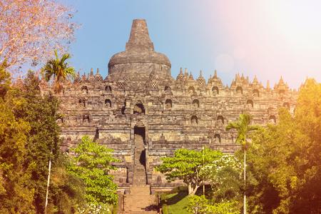 Buddist temple Borobudur complex in Yogjakarta in Java, Indonesia