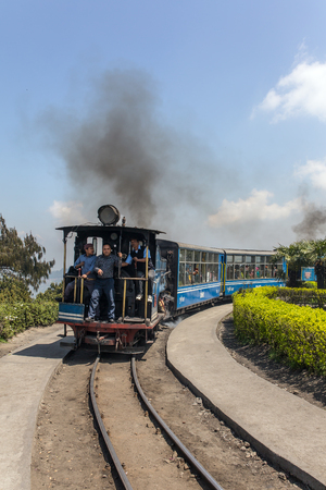 Darjeeling, India  - April 17, 2017: The British-built famous mountain railway, the so-called Toy Train. It is part of the World Heritage. Editorial