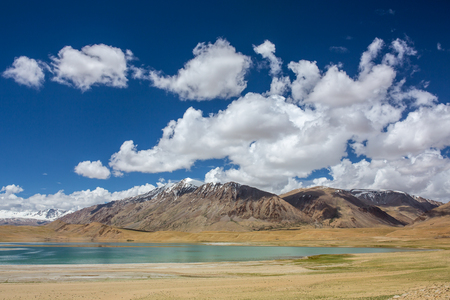 Beautiful panorama of landscape around Thadsangkaru Tso or Kiagar Tso lake in Ladakh, India