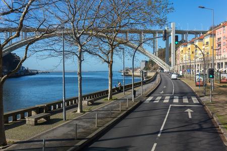 Porto, Portugal - January 17, 2018: Ponte da Arrabida Bridge in Porto, Portugal