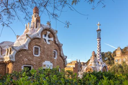 Park Guell designed by Antoni Gaudi,  Barcelona, Spain. Reklamní fotografie