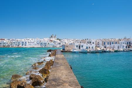 Greek fishing village Naousa on Paros island, Cyclades