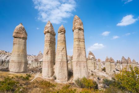 Love Valley in Cappadocia region, Turkey