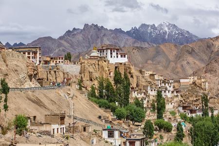 Lamayuru gompa tibetan buddhist monastery in Ladakh, India