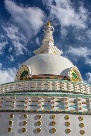 Shanti Stupa also known as Peace Pagoda in Leh city, Ladakh