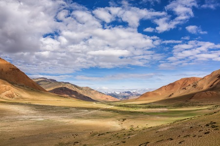 Beautiful landscape of the famous More plains in Ladakh, India