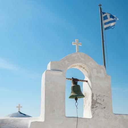 Cycladic greek orthodox church on Paros island, Greece.