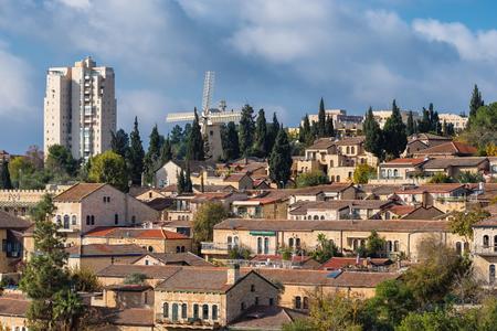View of Yemin Moshe neighborhood in Jerusalem