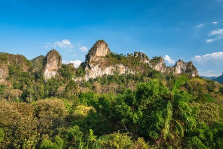 Beautiful tropical landscape in Khao Sok National Park, Thailand Stock Photo