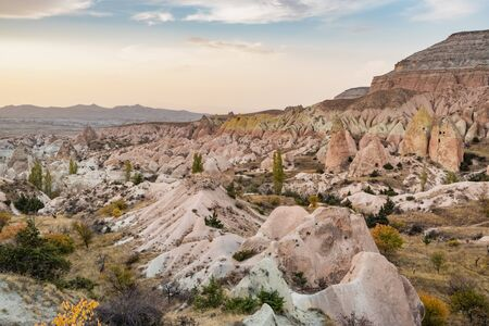 Landscape of the Red valley in Cappadocia, Turkey Imagens