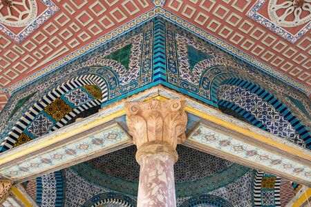 Dome of the Chain, one of the oldest structures on the Temple Mount, near Dome of the Rock