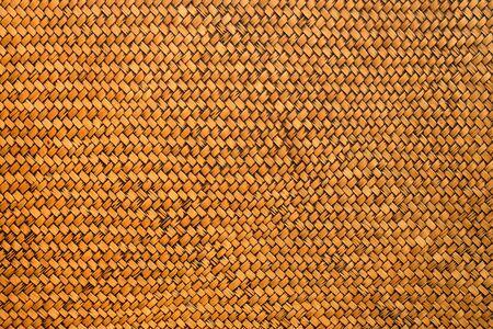 Détail de fond de texture de tissage de bambou artisanal Banque d'images