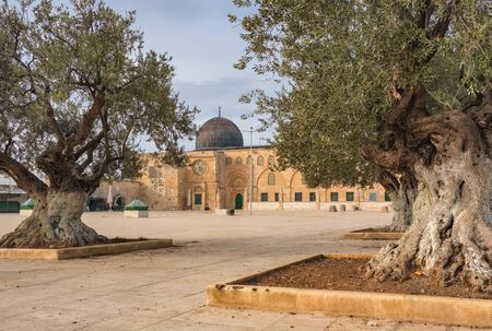 Al-Aqsa Mosque in Jerusalem on the top of the Temple Mount in Jerusalem