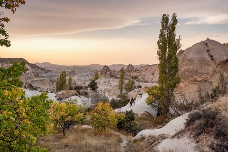Landscape of the Red valley in Cappadocia, Turkey