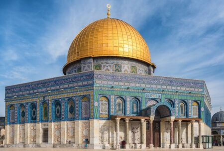 Mosque of Al-aqsa or Dome of the Rock in Jerusalem, Israel 写真素材
