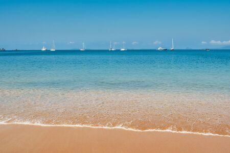 Beautiful tropical empty beach on island in Thailand