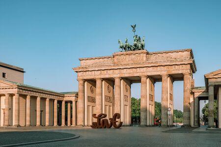 Brandenburg gate at morning in Berlin Stock Photo - 129921915