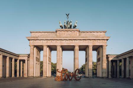 Brandenburg gate at morning in Berlin