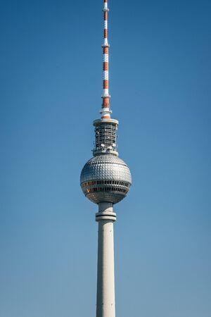 Berlin TV Tower close up view Фото со стока