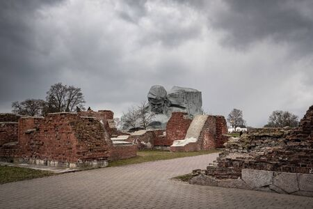 Unknown soldier monument of the Brest Fortress, Brest, Belarus Фото со стока