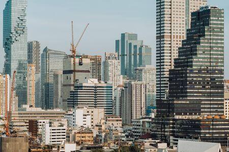 Bangkok City skyline with urban skyscrapers