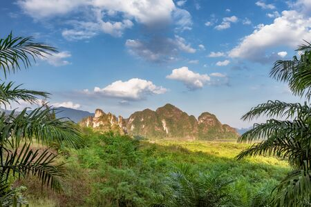Beautiful tropical landscape in Khao Sok National Park, Thailand Stock Photo