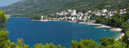 Beautiful panorama landscape of the Makarska Riviera, Dalmatia, Croatia Stock Photo