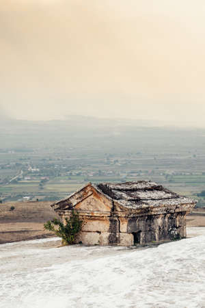Ancient greek tomb in Ancient City of Hierapolis in Pamukkale in Turkey
