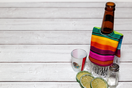 Beer wearing a Mexican sarape