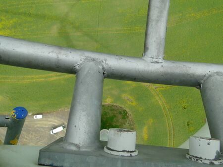 From the top of wind rotor perspective - cars on ground