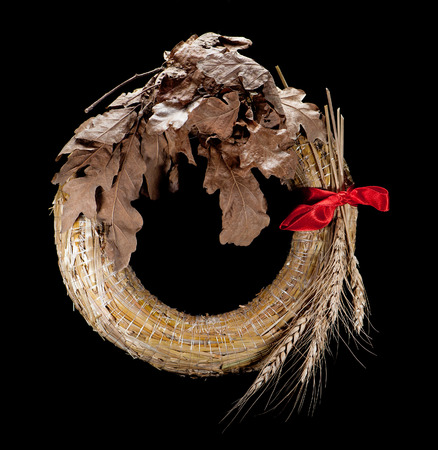 serbia xmas: Badnjak - Wreath of straw and grain, Christmas Eve