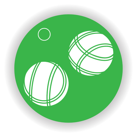 french boule: Bocce Balls Icon - Vector