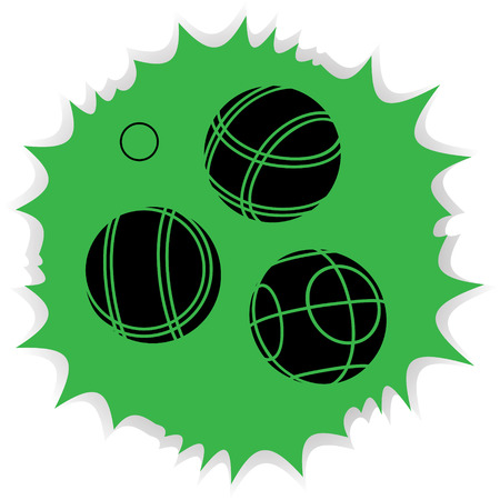 bocce: Bocce Balls flat Icon - green background