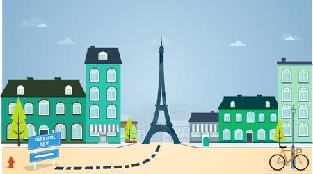 Rue de Paris Banque d'images - 36936193