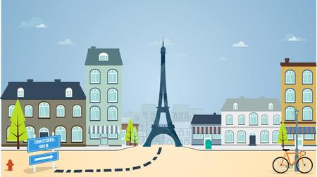Paris street Vector