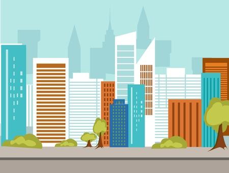 main street: Background city