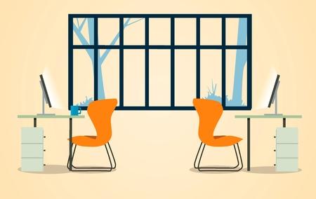 Office interior. Modern Vector