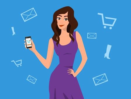 womens work: Girls presentation of phone