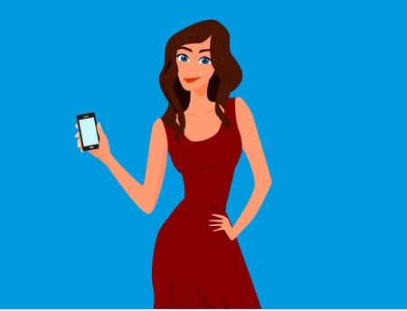 comprando zapatos: Presentaci�n Chicas de tel�fono