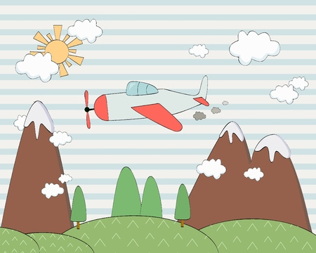 air baloon: Background for game Illustration